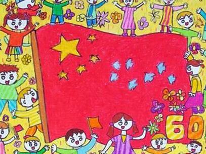 小学生国庆节图画