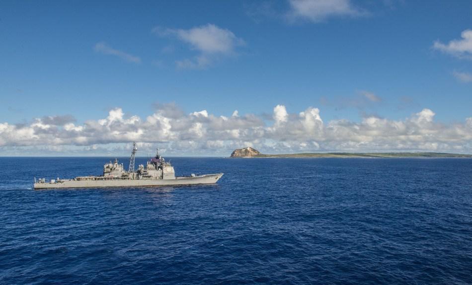 美国里根号航母纪念硫磺岛战役