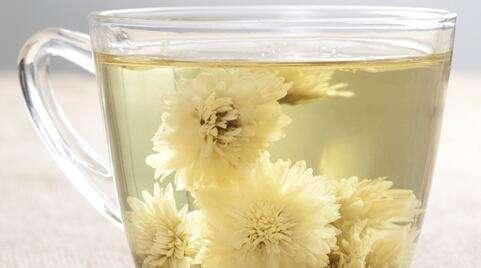 装着菊花透明的杯子-孕妇可以喝菊花茶吗